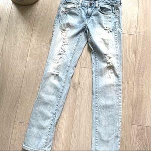 AE- Acid Wash Distressed Jeans